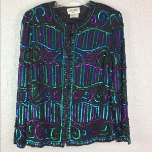 Vintage Brilliante Sequined jacket evening small